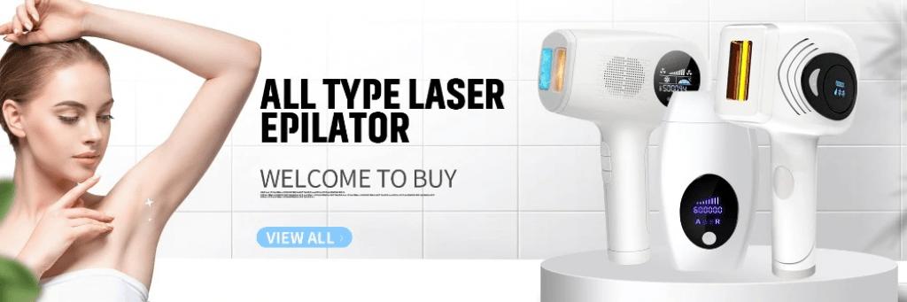 DIY laser hair removal handdset