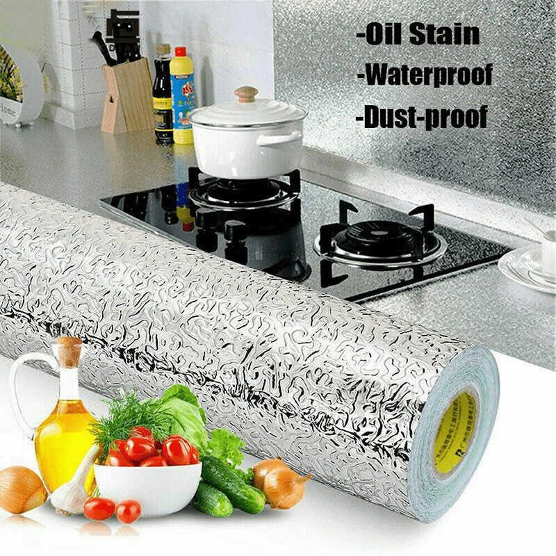 Kitchen Oil Proof Wallpaper Aluminum Foil Get 50 Off Today