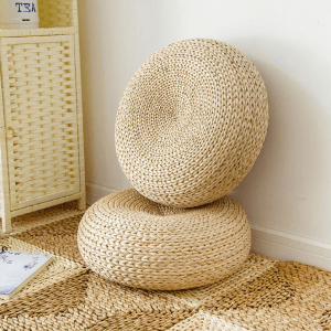 Handcrafted Straw Cushion