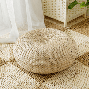 Natural Sitting Straw Futon Cushion