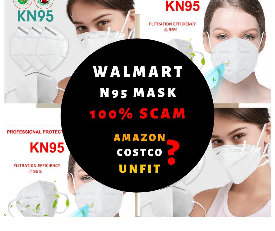 amazon, costoc, home depot, walmart n95 mask unfit