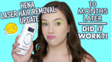 Hena IPL hair removal device review